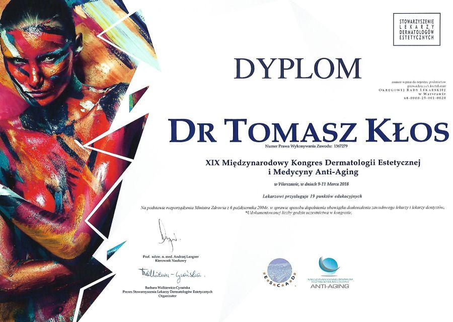 dyplom anti-aging-drklos