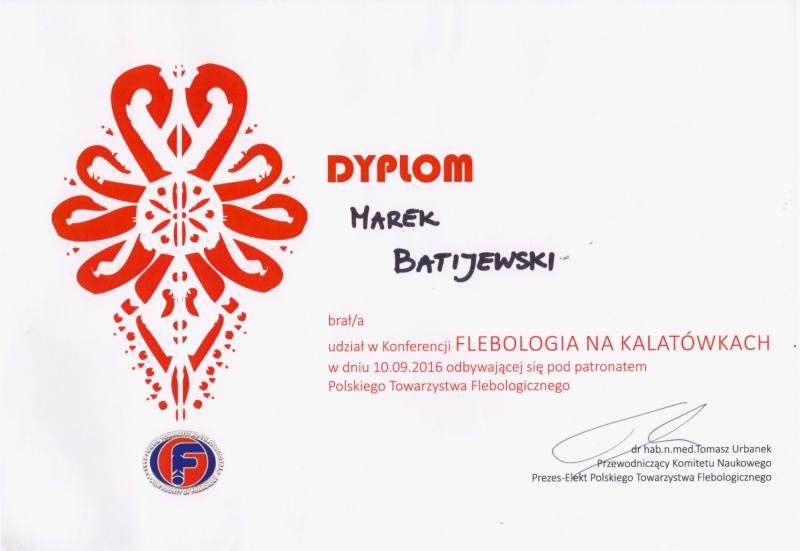 dyplom leczenie żylaków kończyn dolnych