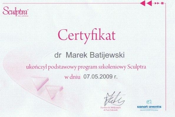 sc volumetria-certyfikat